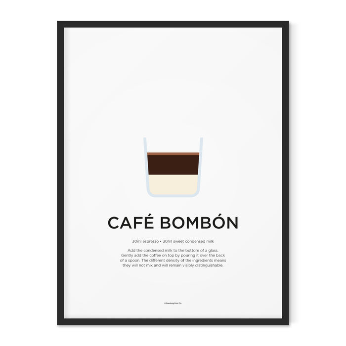 Cafe Bombon coffee art print