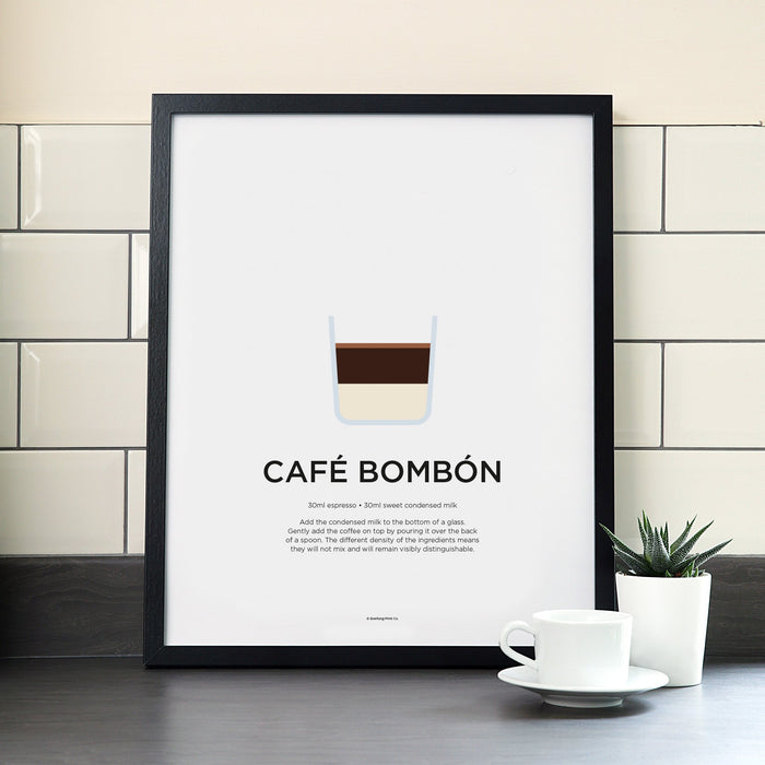 Cafe Bombon coffee poster