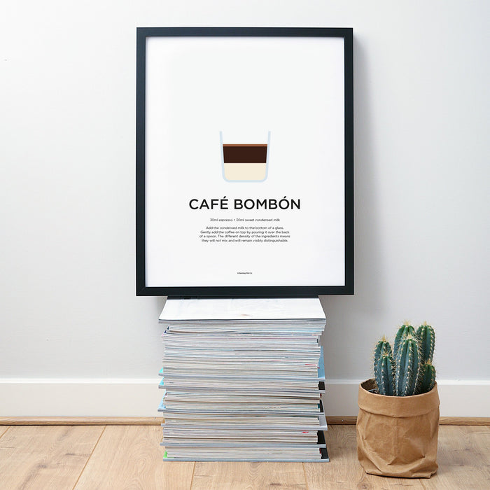 Cafe Bombon coffee wall art