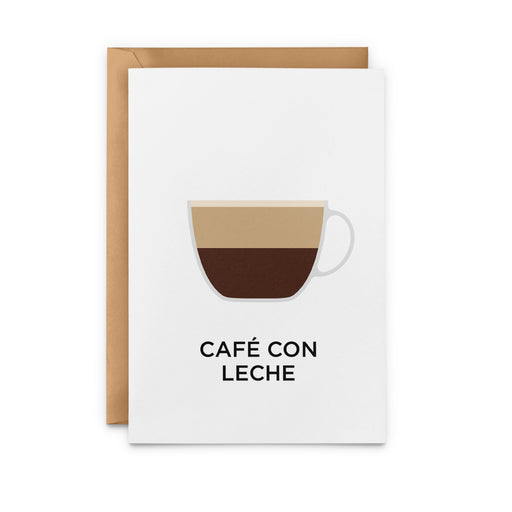 Café Con Leche Greeting Card