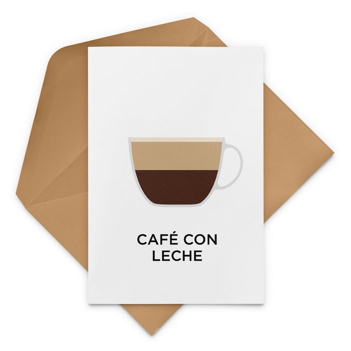 Café Con Leche Coffee Greeting Card