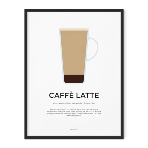 Caffe Latte coffee art print