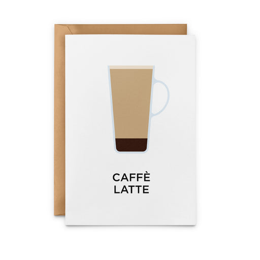 Caffè Latte Greeting Card
