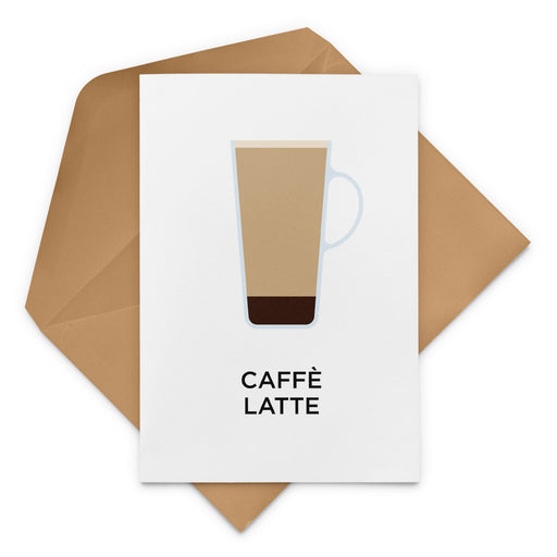 Caffè Latte Coffee Greeting Card