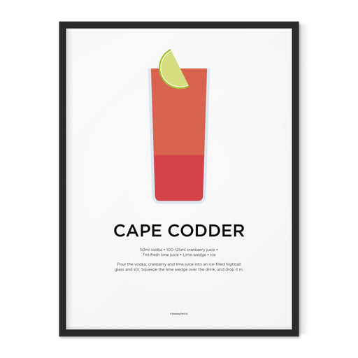 Cape Codder cocktail art print