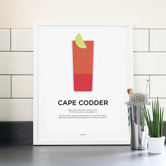 Cape Codder cocktail poster
