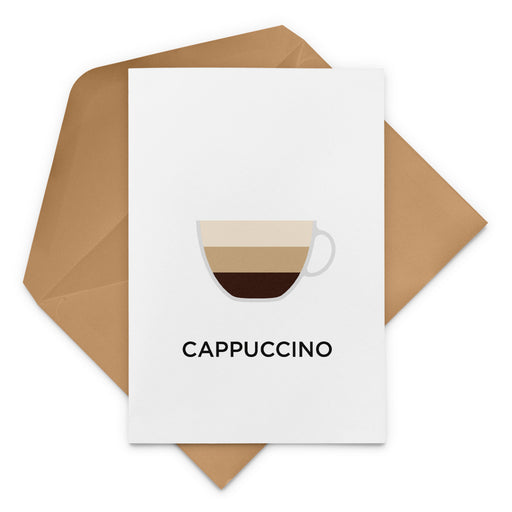 Cappuccino Coffee Greeting Card