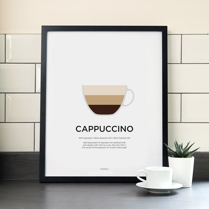 Cappuccino coffee poster