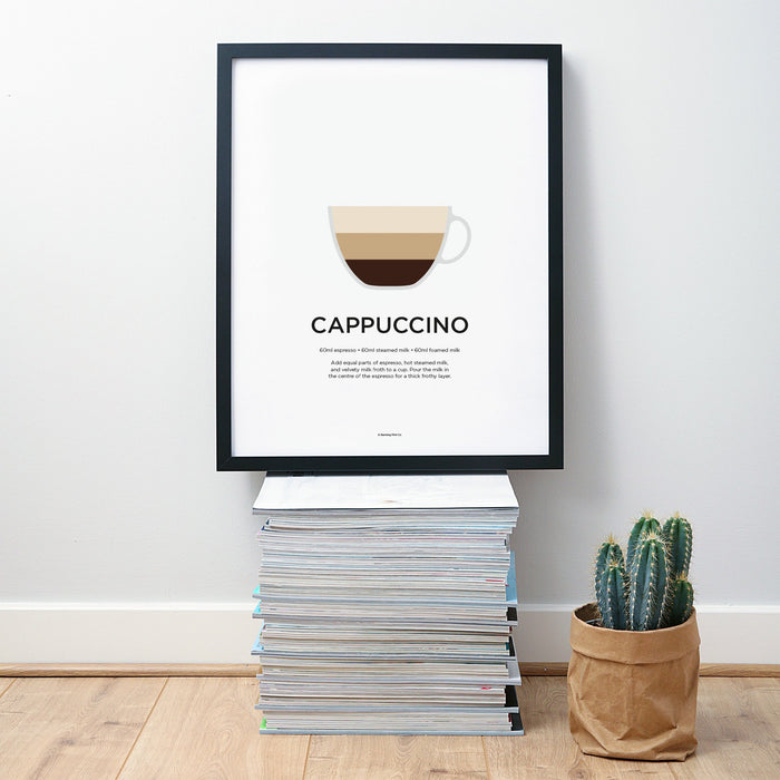 Cappuccino coffee wall art