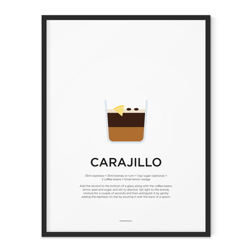 Carajillo coffee art print