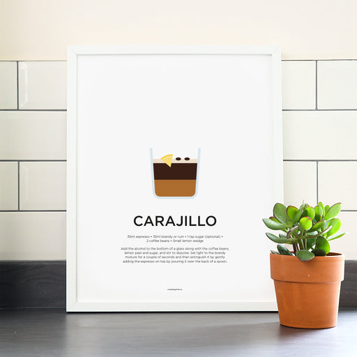 Carajillo coffee poster