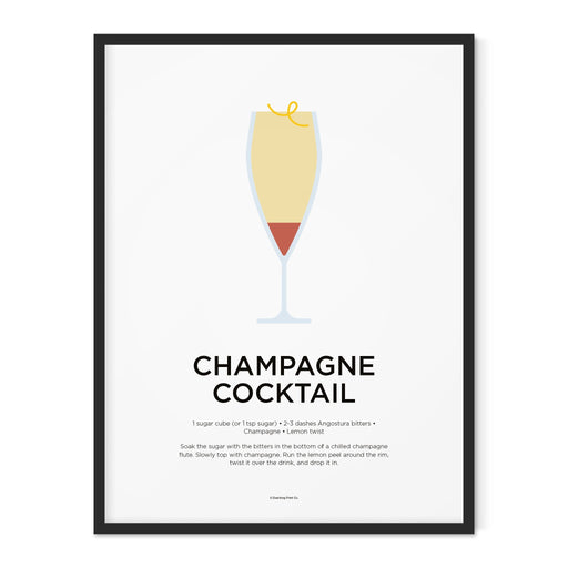 Champagne Cocktail art print