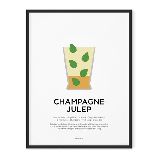 Champagne Julep cocktail art print