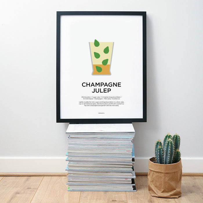 Champagne Julep cocktail wall art