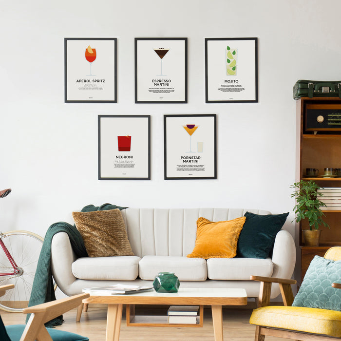 Classic cocktail recipe prints