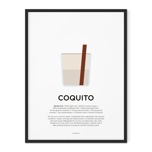 Coquito cocktail art print