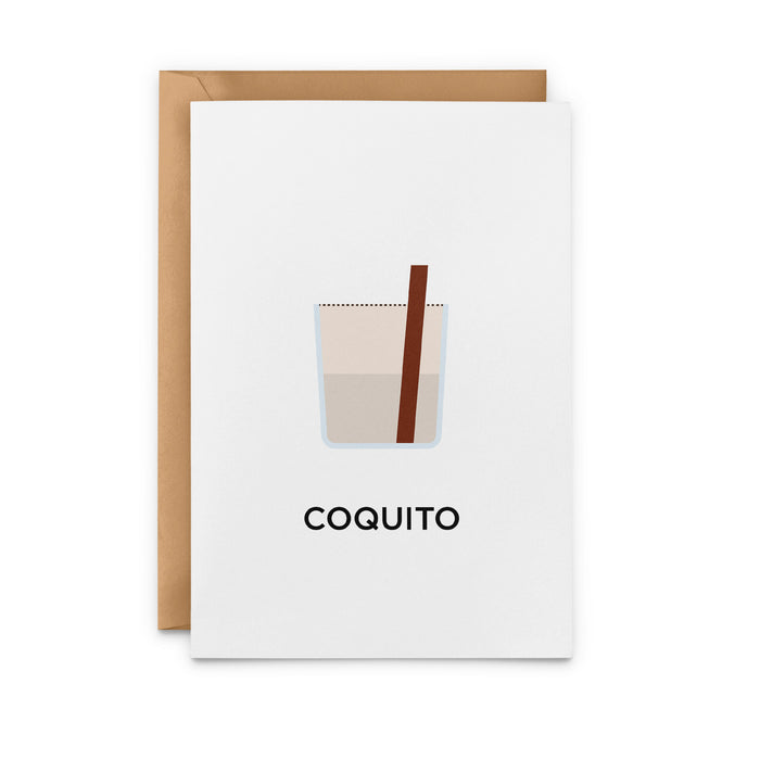 Coquito Cocktail Greeting Card