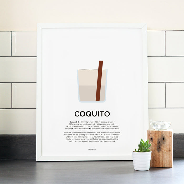 Coquito cocktail poster