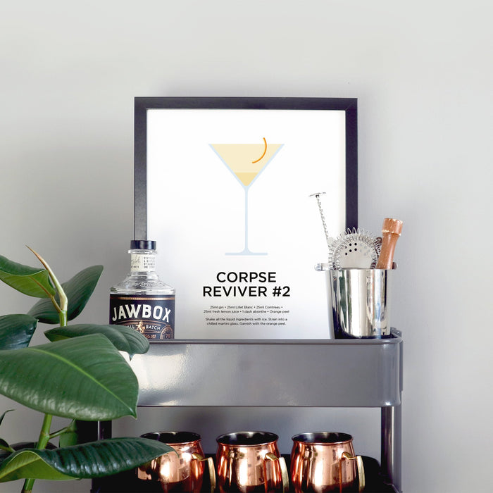 Corpse Reviver #2 cocktail print