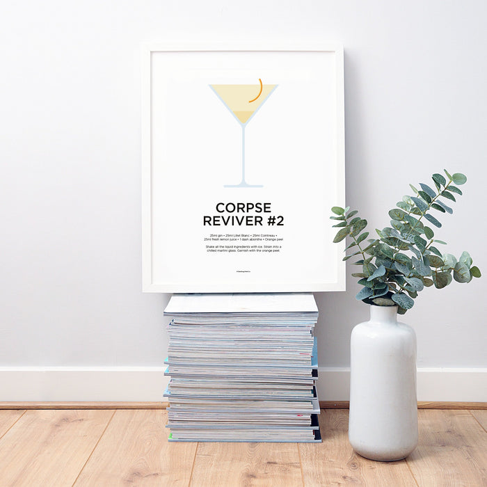 Corpse Reviver #2 cocktail wall art