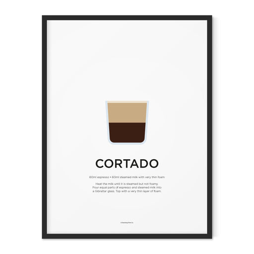 Cortado coffee art print