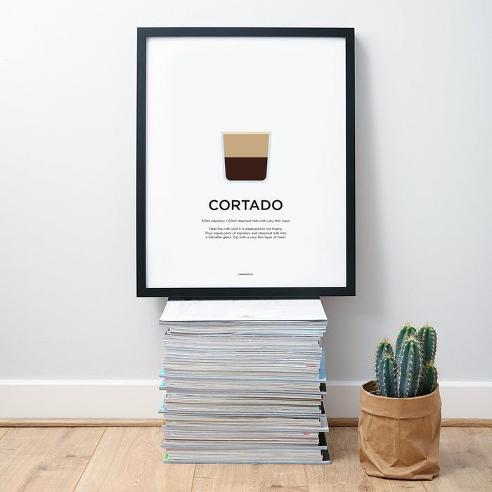 Cortado coffee wall art