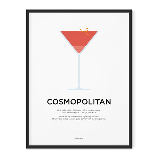 Cosmopolitan cocktail art print