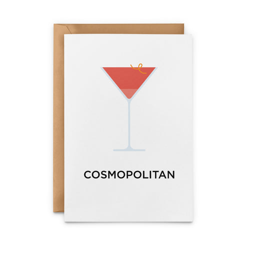 Cosmopolitan cocktail greetings card