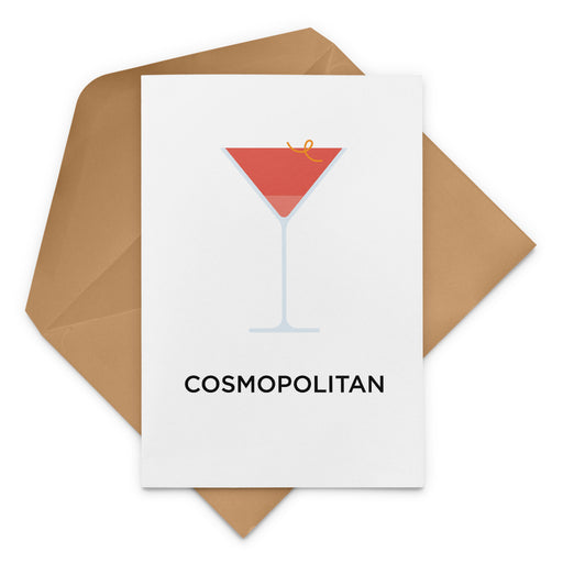 Cosmopolitan cocktail birthday card
