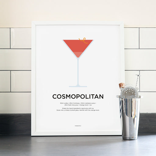 Cosmopolitan cocktail poster