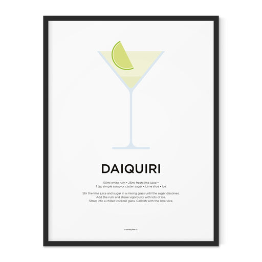 Daiquiri cocktail art print