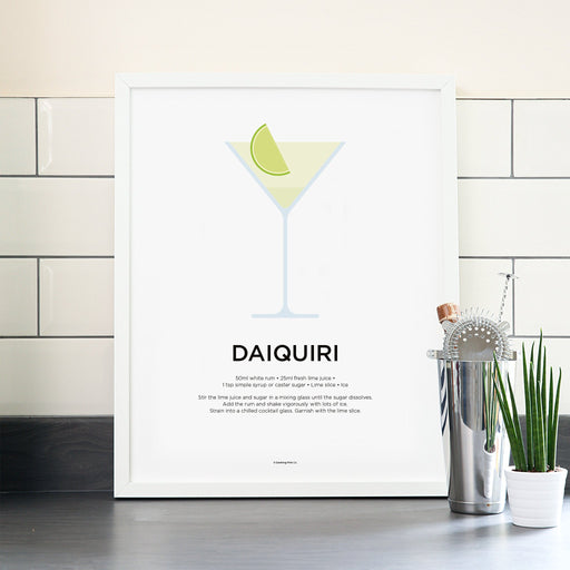 Daiquiri cocktail poster