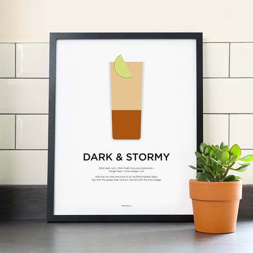 Dark and Stormy cocktail poster