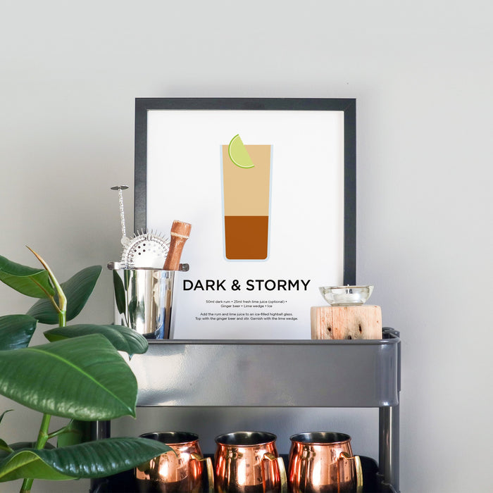 Dark and Stormy cocktail print