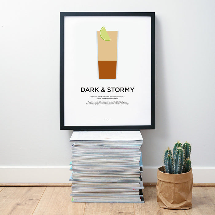 Dark and Stormy cocktail wall art