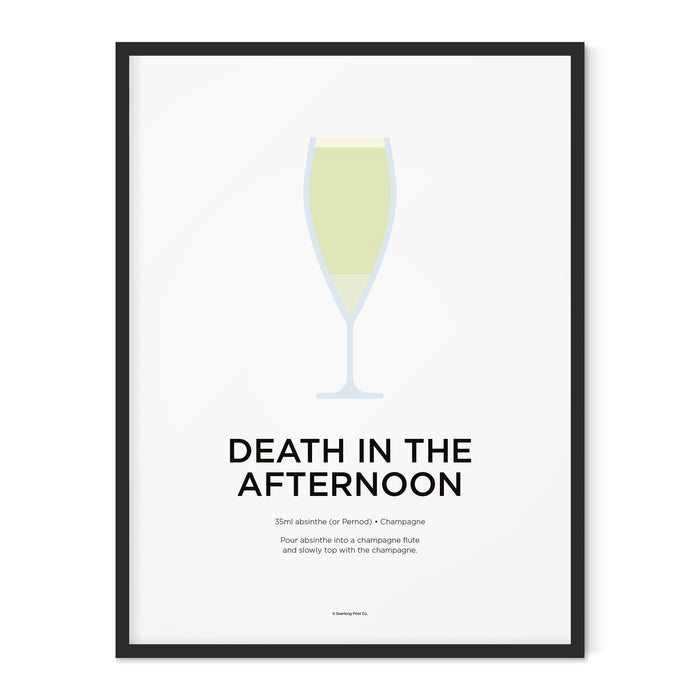 Death in the Afternoon cocktail art print