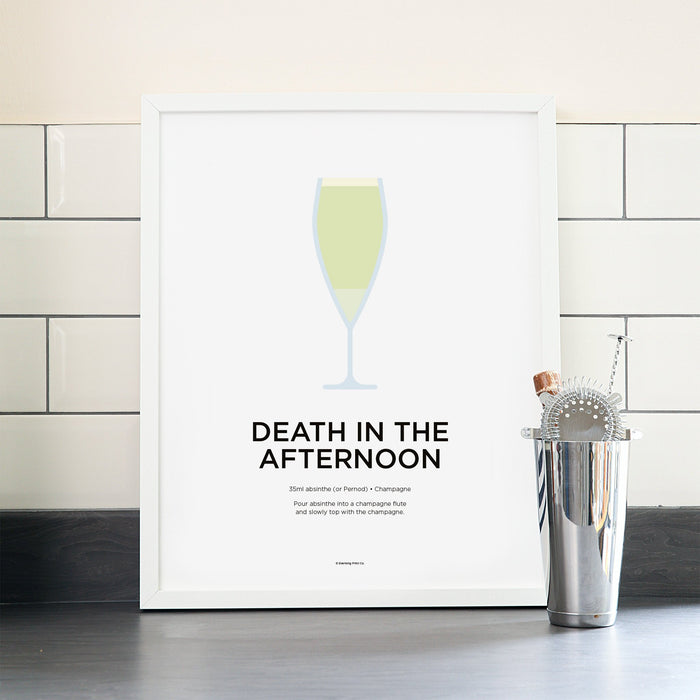 Death in the Afternoon cocktail poster