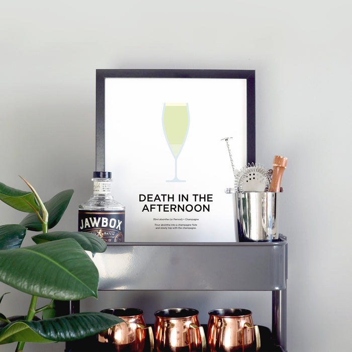 Death in the Afternoon cocktail print