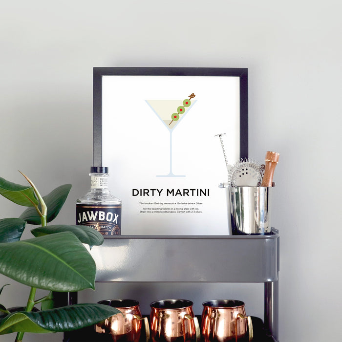 Dirty Martini cocktail print