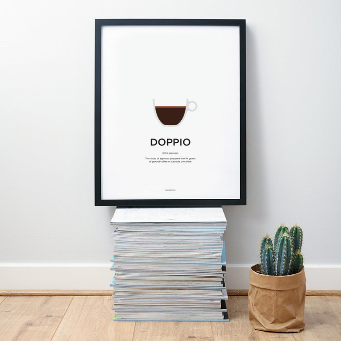 Doppio coffee wall art