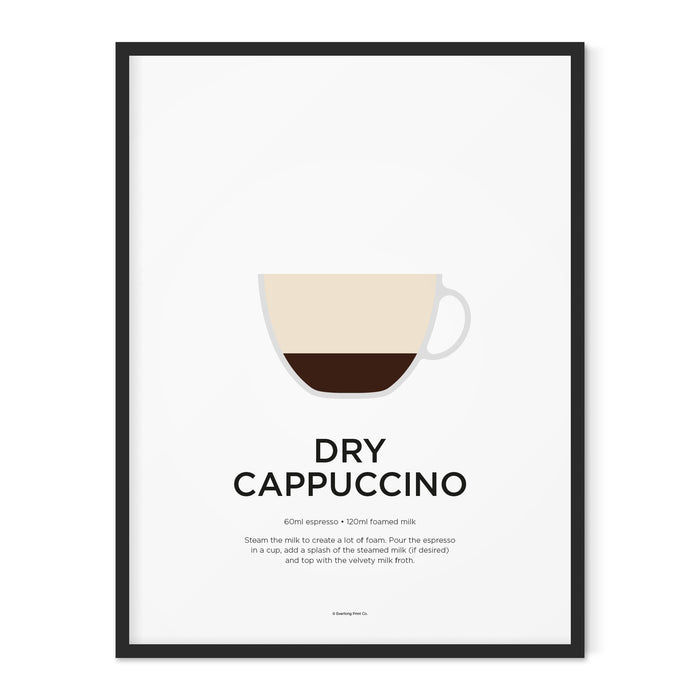 Dry Cappuccino coffee art print