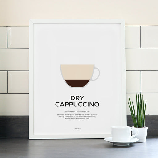 Dry Cappuccino coffee poster