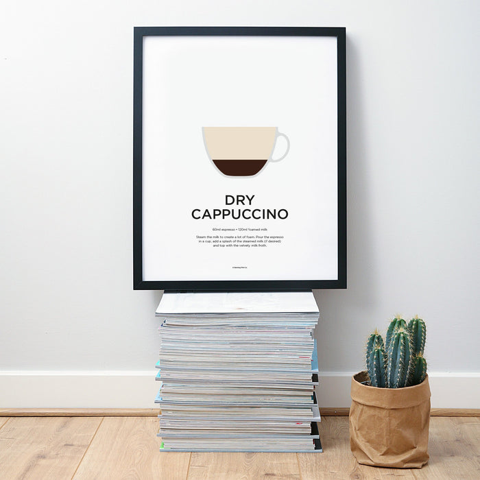 Dry Cappuccino coffee wall art