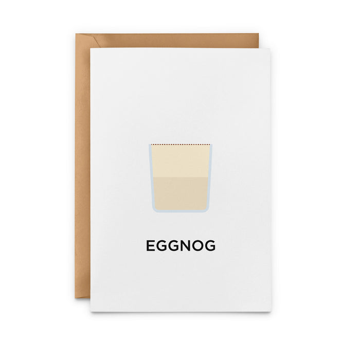 Eggnog Cocktail Greeting Card