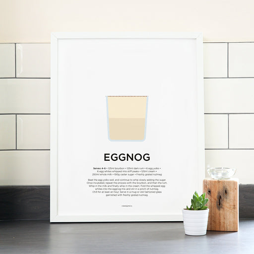 Eggnog cocktail poster