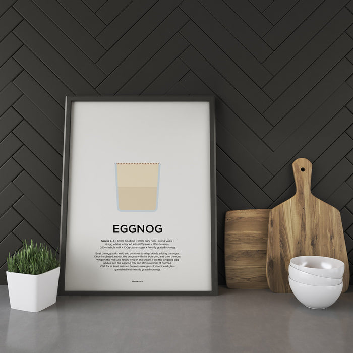 Eggnog cocktail recipe print