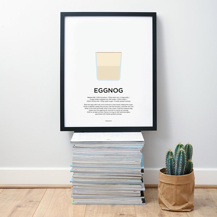 Eggnog cocktail wall art
