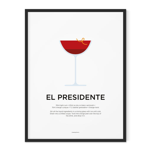 El Presidente cocktail art print