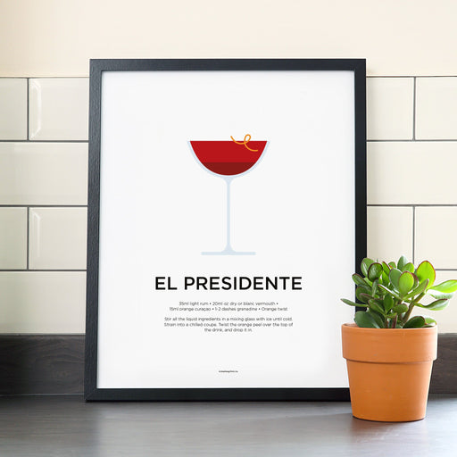 El Presidente cocktail poster