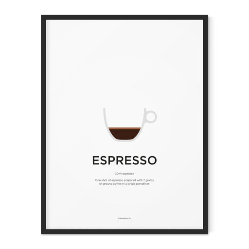 Espresso coffee art print